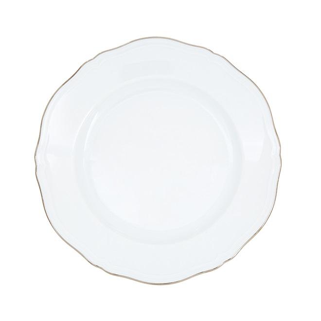 ginori corona platino piatto tondo