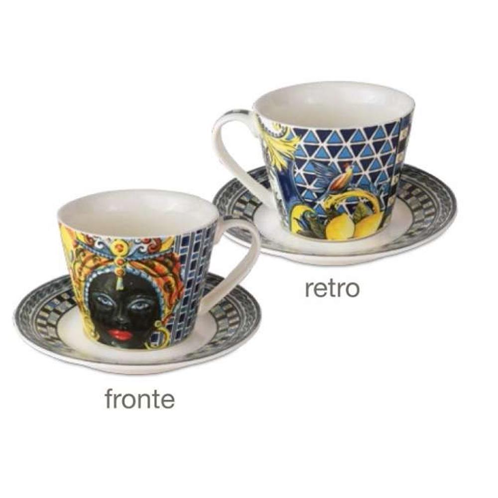 baci sicily tazze caffè blu