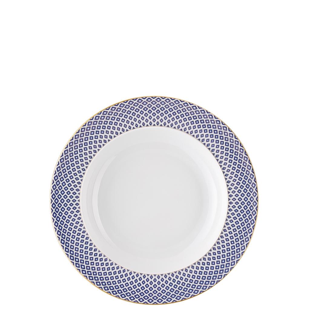 rosenthal francis carreau blu piatto fondo