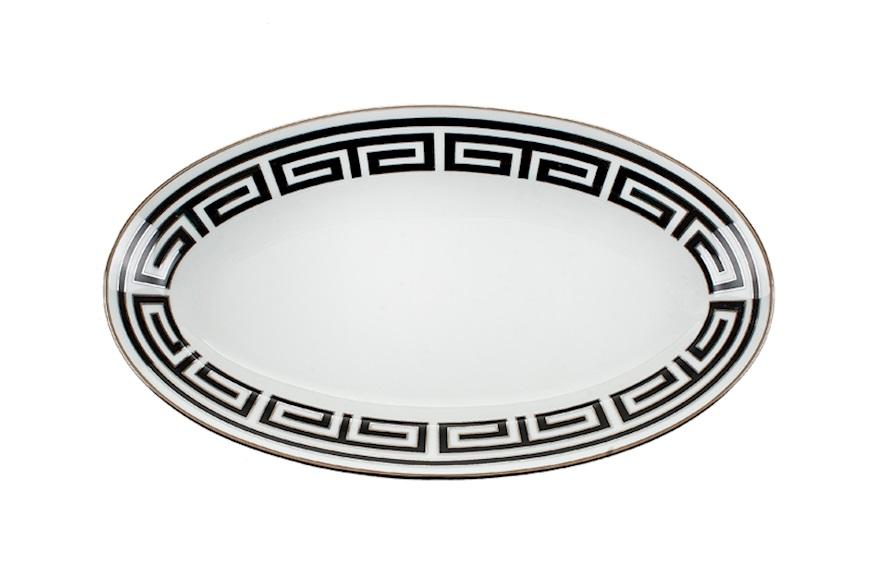 ginori labirinto nero piatto ovale