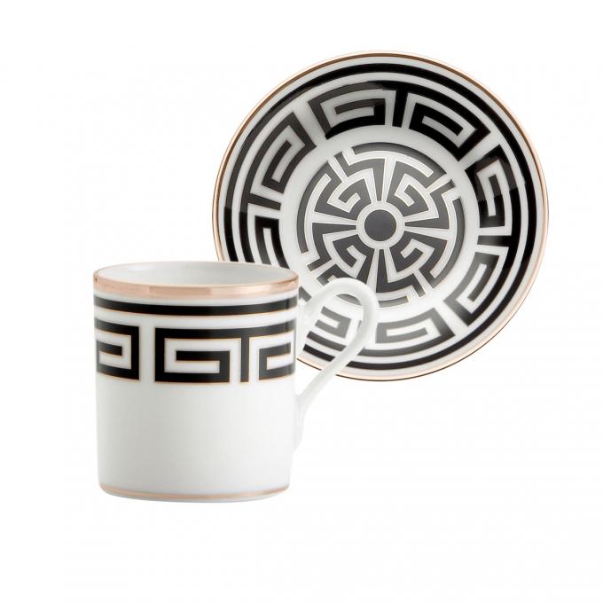 ginori labirinto nero tazza caffe